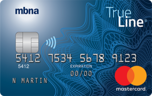 MBNA True Line credit card
